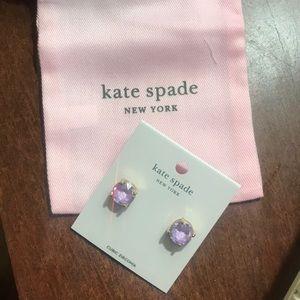 Kate spade gumdrop lilac earrings